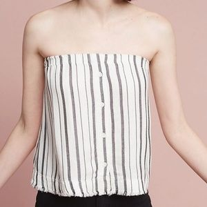 NWOT Anthropologie Strapless Top
